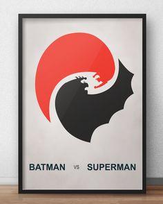 """"""" - Diga-me, você sangra... ? Vai sangrar""""    Promoção do mês de estréia de Batman vs Superman.  Somente em março o poster em homenagem ao filme e dos 2 heróis com 20% de desconto.    Acesse já:http://bit.ly/BatxSup"""