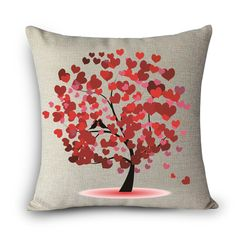 2016 Decorative Linen Tree Cushion Cover in Embroidered for Sofa Car Outdoor Room Wedding Bedding Throw Pillow Caser MYJG2