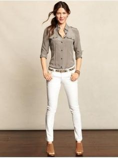 I love white pants, but I think I'd spill on them before I even put them on.