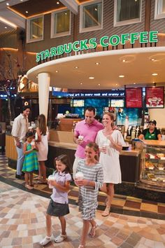 YES! .... Enjoy Starbucks at sea, exclusively sailing onboard #AllureoftheSeas #OasisoftheSeas #RoyalCaribbean