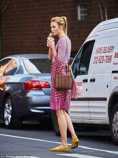 Wrap up your style in Karlie's Diane Von Furstenberg dress #DailyMail