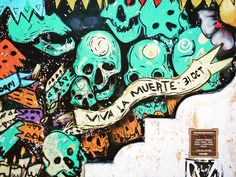 """""""An awareness of death encourages us to live more intensely"""" #vivalamuerte #pictureoftheday #photodujour #Oaxaca #streetart more at http://ift.tt/2dvBbZz #photography #photographie #photoblog #travelblog"""