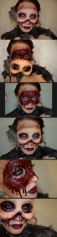 Ridiculous Halloween makeup I want to attempt! So gross but so detailed!!!