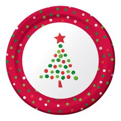 Christmas tree plate. This could be done with fingerprints!