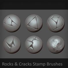 Rocks & Cracks Brushes, Luis Armstrong on ArtStation at https://www.artstation.com/artwork/grAZZ