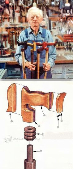 Making Walking Canes - Woodworking Plans and Projects - Woodwork, Woodworking, Woodworking Plans, Woodworking Projects Small Woodworking Projects, Diy Wood Projects, Woodworking Crafts, Wood Crafts, Woodworking Plans, Woodworking Patterns, Woodworking Shop, Walking Sticks And Canes, Walking Canes