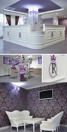OMGOMGOMG! A cool, PURPLE dentist office. Wow.  (from 10 Coolest Dental Offices - Oddee.com)