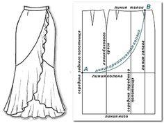 Opciones faldas con volantes (con dibujos de patrones). Comentarios: LiveInternet - Russian Servicio Diarios Online