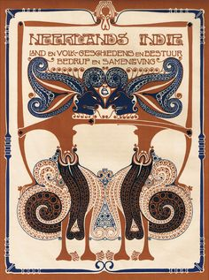 Neerlands-Indië (losse afdruk van boekomslag), ontwerp: Chris Lebeau (1911)