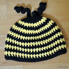 PDF Crochet Pattern Buzzy Bee Baby Beanie by TheYarnChick on Etsy