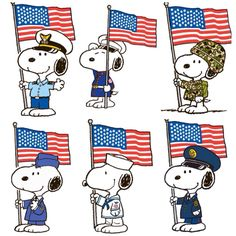 Memorial or Veterans Day Snoopys