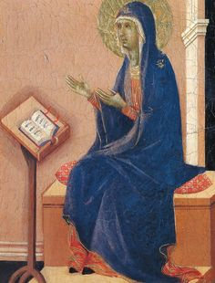 Annunciation (Fragment) via Duccio di Buoninsegna Medium: wood, tempera