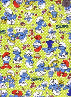 The Smurfs fabric