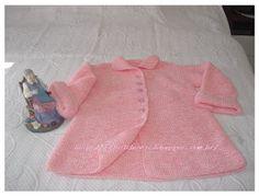 MEUS TRABALHOS: Cardigan em tricô para crianças de 1 à 3 anos