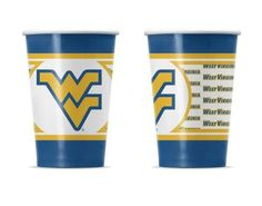 West Virginia University Disposable Paper Cup - 20 Pk