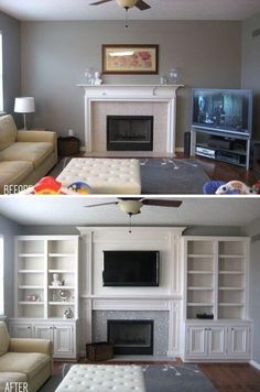 Living room wall unit - flat screen as centrepiece.