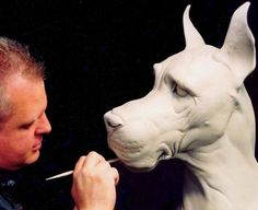 Don Lanning::Amazing Dog Sculpture! Wish there was a picture of the finished sculpture.