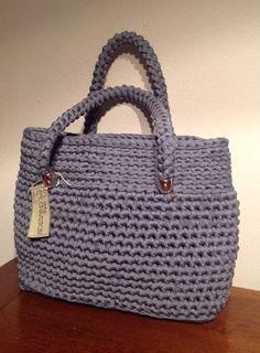 Borsa grande shopping grigia #bag #borsa #fettuccia #grey #shopping