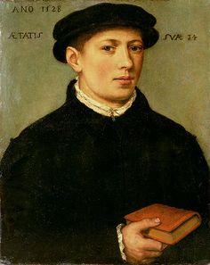 Bartholomäus Bruyn the Elder (German, 1493–1555) -  Portrait of a Young Man 1528