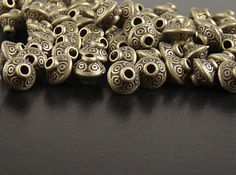 Bead Spacer 30 Antique Bronze Bicone x by BreathtakingBeadzz Metal Beads, 30th, I Shop, Bronze, Antiques, Etsy, Antiquities, Antique, Old Stuff