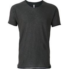 Label Under Construction - zip seam T-shirt - men - Cotton - L ($655) ❤ liked on Polyvore featuring men's fashion, men's clothing, men's shirts, men's t-shirts, grey, mens zip up shirts, mens grey shirt, mens zipper t shirt, mens side zip t shirt and mens cotton shirts