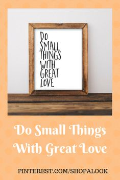 Quote Printable Wall Art, Do Small Things with Great Love printable quote home decor wall Print home wall printable gallery wall black white #printable #motivation #ad