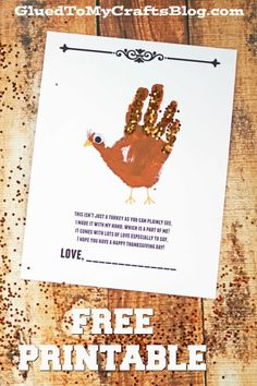 Handprint Turkey Poem - Thanksgiving Kid Craft Idea