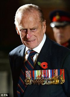 The Duke of Edinburgh wore his own medals to the Festival of Remembrance at the Royal Albert Hall - 9th November 2013