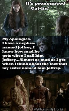 "I don't get tired of ""Mean Girls"" + ""Game of Thrones"". Remember when Tim Meadows says ""My apologies. I have a nephew named Afernee...""? This is too perfect."