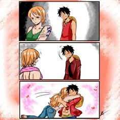Luffy e Nami - One Piece Devianart: Hafsouna Nami One Piece, One Piece Comic, One Piece Fanart, One Piece Anime, Anime Couples, Cute Couples, Marvel Academy, Zoro And Robin, Luffy X Nami
