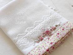 Basic Embroidery Stitches, Hand Embroidery Videos, Baby Embroidery, Hand Embroidery Designs, Embroidery Patterns, Machine Embroidery, Handmade Gifts For Men, Handmade Baby, Pillowcase Pattern