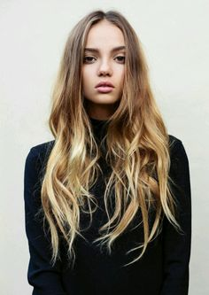 Hair color inspiration: from wooden hazelnut to sunny blonde two-tone ombre. #LoveIt