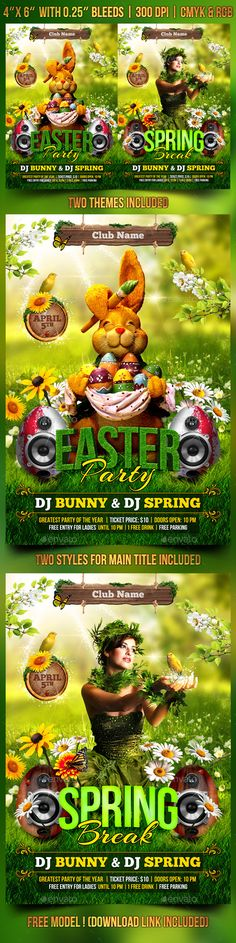 Versatile Easter Flyer Template  Facebook Cover Photo Template