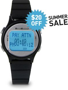 WatchMinder - ADD & ADHD Vibrating Watch & Reminder System - Invented by a Psychologist