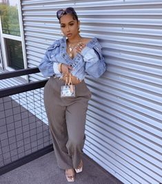 Curvy Girl Outfits, Tomboy Outfits, Curvy Girl Fashion, Dope Outfits, Stylish Outfits, Plus Size Fashion, Fashion Outfits, Urban Fashion, Fashion Looks
