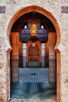 Moroccan Riads Courtyards are filled with an array of colors, textures, and the courtyard is considered the heart of the home - take a look at these magnificent Moroccan Riad Courtyards that will have you packing your bags in no time! Architecture Tumblr, Islamic Architecture, Interior Architecture, Cultural Architecture, Morrocan Architecture, Creative Architecture, Beautiful Architecture, Beautiful Buildings, Interior Design