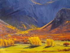 SOLD I Colorado Colors I 9x12 I Dix Baines I Fine Artist Original Oil Paintings I Mountains I Gateway Colorado I www.dixbaines.com