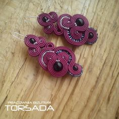 TORSADA - pracownia autorskiej biżuterii. Kolczyki sutasz soutache earrings handmade