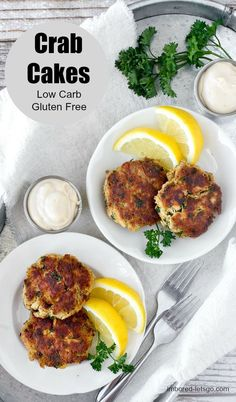 These crab cakes are low carb, gluten free and very satisfying!  The mustard sauce makes a perfect dipping sauce!