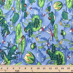Frog Pond Blue Print Broadcloth