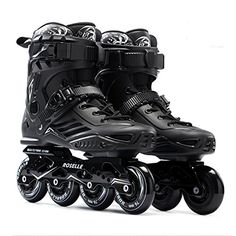 ROSELLE Black Professional Roller Inline Skates Men 85Women 95 -- Check this awesome product by going to the link at the image. (This is an affiliate link)