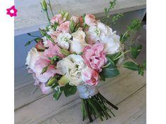 Lisianthus como flores de boda rosa y blanco