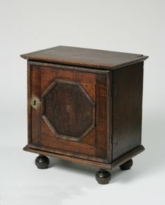 """Pilgrim Century Maple and Pine Valuables Chest  New England circa 1690-1720  H. 21 ½ in.; W. 19 ½ in.; D. 12 1/2 in.  Provenance:  The Rhode Island School of Design; Whimsy Antiques, Arlington, VT, June, 1965;  The Deyerle Collection, Charlottesville, VA, 1995, Lot 567  Literature:  Wallace Nutting, """"Furniture Treasury,"""" New York: Macmillan, 1928. Plate 916. Wallace Nutting, """"Furniture of the Pilgrim Century, 1620-1720: Including Colonial Utensils and Hardware,"""" New York: Bonanza Books, 19"""
