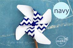INSTANT DOWNLOAD navy pinwheel, pinwheel, navy baby shower, navy birthday, pinwheel printable, navy party, chevron baby shower