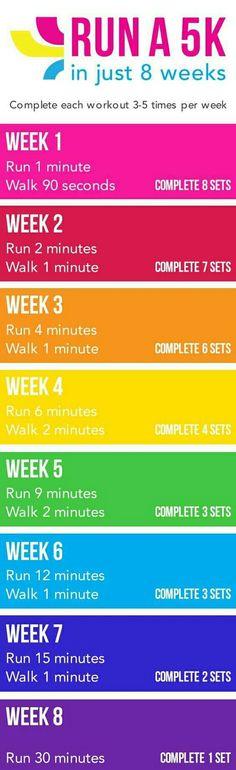 Run a 5K in 8 weeks