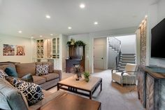 Basement by Carl M. Hansen Companies | Luxury Home Tour