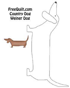 Country Dog Quilt Weiner Dog pattern