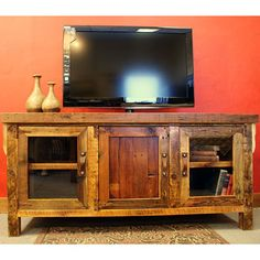 Black Mountain Reclaimed Rustic Plasma TV Entertainment Center by Timber Designs