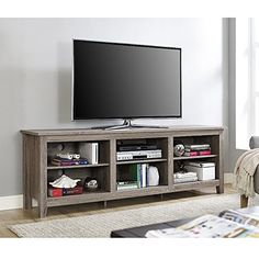 Rerlane 70 Driftwood Essentials TV Stand ** Find out more about the great product at the image link. (This is an affiliate link)