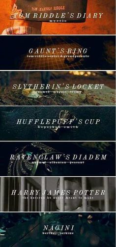 Am i the only one to notice that Voldemort took a thing from each house other then Gryfindor. So Harry must be Gryffindor<< Harry was an accidental horcrux. When Voldemort killed his parents his soul was so unstable it split and made Harry a horcrux Harry Potter World, Objet Harry Potter, Classe Harry Potter, Harry Potter Ron Weasley, Harry James Potter, Harry Potter Quotes, Harry Potter Universal, Harry Potter Fandom, Harry Potter Deathly Hallows